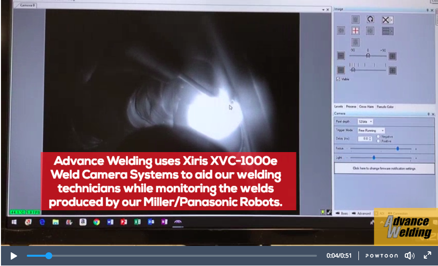 Aerospace Welding Quality Monitoring with Real Time Video