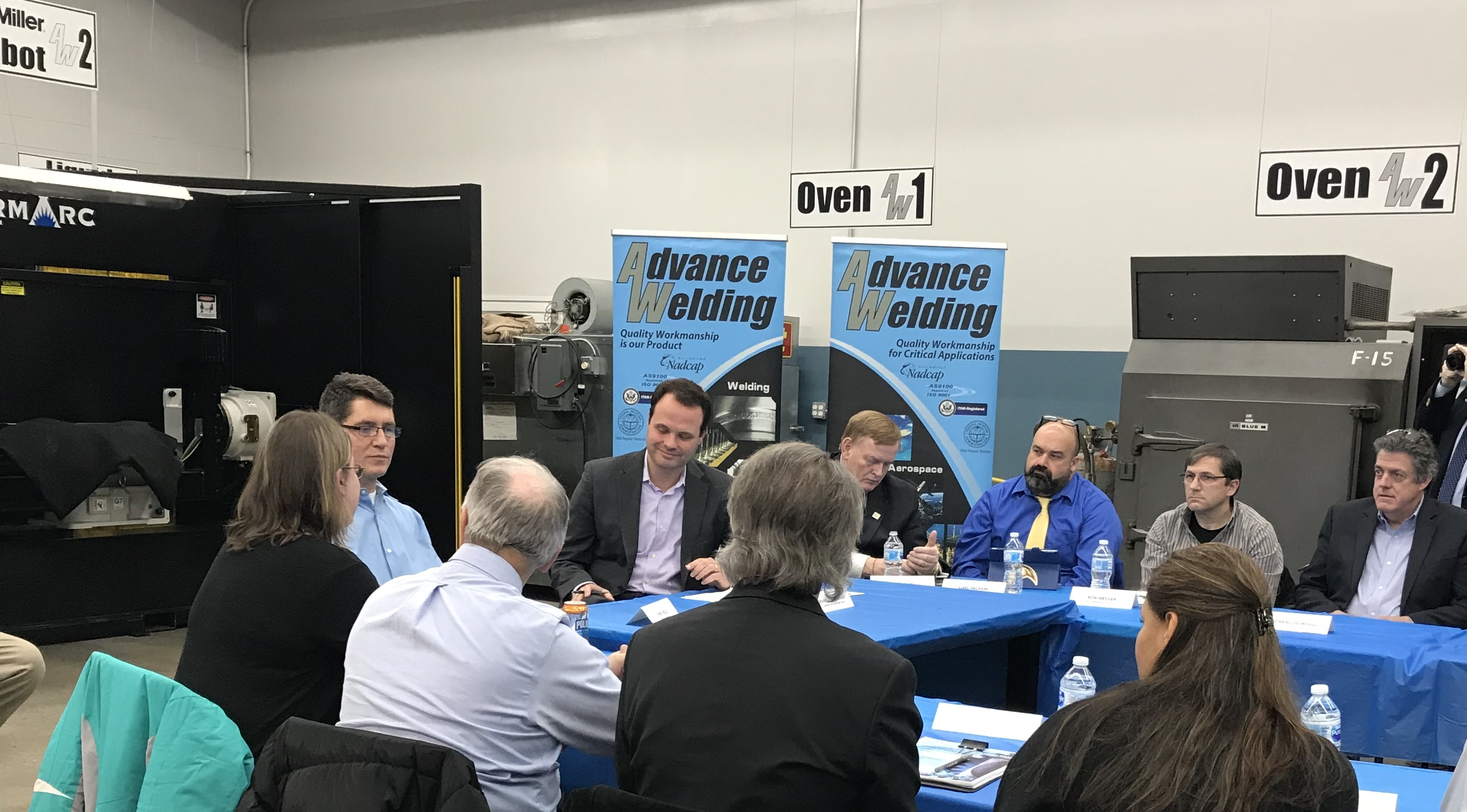 Advance Welding Hosts the First of a Series of Manufacturing Round Tables with Senator Lesser.